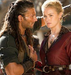 Black Sails - Captain Charles Vane (Zach McGowan) and Elenor Guthrie (Hannah New)