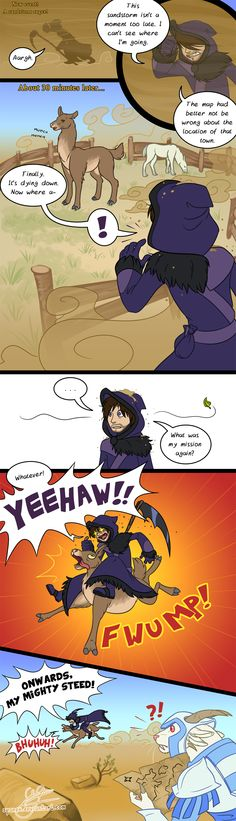 The GW2 Llama Comic by Spanex.deviantart.com on @deviantART
