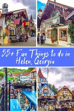 Visiting Helen in Georgia? Read now for things to do including Chattahoochee river tubing, Main Street, Bavarian food, beer, and the ever-popular Oktoberfest! helenga helengeorgia georgia helen usa travel northgeorgia via things to do in helen ga Places To Travel, Travel Destinations, Places To Visit, Family Vacation Destinations, Helen Ga, Helen Georgia, Savannah Georgia, Georgia Usa, Diy Usa