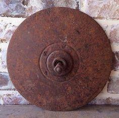Cast Iron / Steel Metal Vintage Plow Disc Blade - Antique Farm Yard Garden Decor on Etsy, $6.95 Iron Steel, Steel Metal, Tractor Parts, Vintage Farm, Farm Yard, Garden Art, Cast Iron, Repurposed, Blade