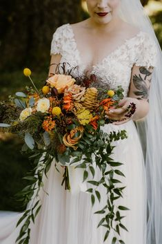 Colorful Crook Point Wedding with Epic Coastal Views Bridal Bouquet inspiration Fall jewel Tones Warm Toned Wedding Bouquet Wildflower Wedding Bouquet Inspiration Bridal Bouquet Fall, Fall Wedding Bouquets, Floral Wedding, Wedding Flowers, Bridal Bouquets, Boho Wedding, Rustic Wedding, Space Wedding, Wedding Day