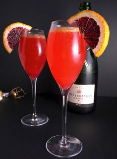 Delicious Blood Orange Bellinis!