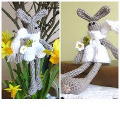 Crocheted Easter bunnies by Helena Haakt (paashaasjes haken)