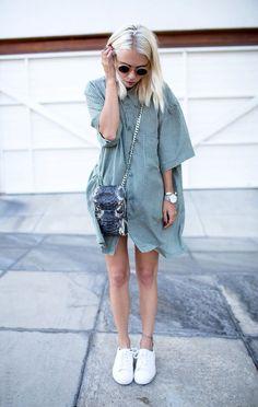 Outfit idea: Baggy t-shirt dress