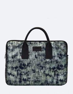 funda-portátil-silver-green-1 Tote Bag, Metal, Bags, Collection, Fashion, Notebook Covers, Tejidos, Handbags, Moda