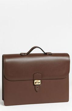 $1,695, Androya Briefcase Dark Brown One Size by Bruno Magli. Sold by Nordstrom. Click for more info: http://lookastic.com/men/shop_items/60375/redirect