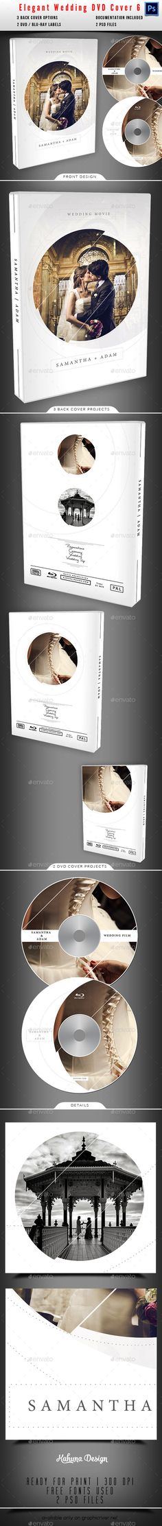 Wedding DVD / BluRay Cover 06 — Photoshop PSD #wedding cover #blu-ray • Available here → https://graphicriver.net/item/wedding-dvd-bluray-cover-06/11395996?ref=pxcr