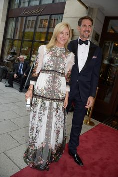 Crown Prince Pavlos and Crown Princess Marie-Chantal of Greece attend the after-wedding party of Hereditary Prince Ernst August of Hanover, Duke of Brunswick-Lueneburg, and Ekaterina Malysheva at Luisenhof on July 2017 in Hanover, Germany. Marie Chantal Of Greece, Greek Royalty, Ernst August, Greece Fashion, Royal Fashion, Glamour, Formal, Couples, Lady
