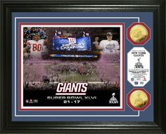 New York Giants Super Bowl XLII Banner Pin