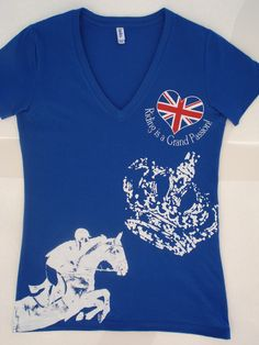 UK Show Jumper Ladies T-shirt by Irish Hunter T-shirt Co. I'd wear this,. True Grit, Hunter Jumper, Equestrian Style, Horse Stuff, You Funny, Wearable Art, Irish, Fashion Beauty, How To Look Better