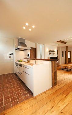 キッチン Japanese Home Design, Japanese Interior, Japanese House, Kitchen Redo, Kitchen Pantry, Kitchen Dining, Kitchen Cabinets, Kitchen Ideas, Kitchen Interior