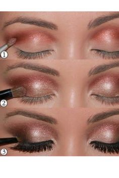 Bronze Eye Makeup Trends. As awful as I am at doing my own makeup, I think even I could make this happen!