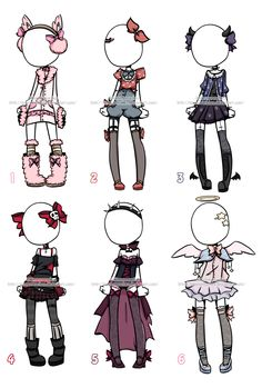 Outfit Adoptables#1 CLOSED by KimmyPeaches.deviantart.com on @DeviantArt