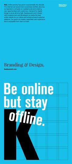 Baubauwerk graphic design poster typography blue