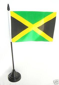 Jamaica Jamaican Table Desk Top National Flag -New  | eBay