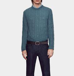 Gucci - cashgora cable crew neck sweater 387718Z53144757