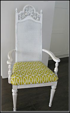 Blissfully Ever After: 7 Trash to Treasure Ideas  Dining Room Chair Makeover