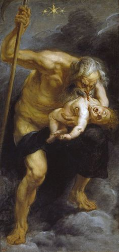 Peter Paul Rubens' more Baroque-style Saturn Devouring His Son (1636) may have inspired Goya