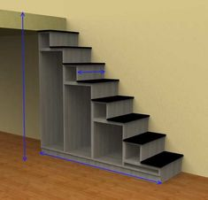 Staircase for mezzanine – Keep up with the times. Tiny House Stairs, Loft Stairs, House Furniture Design, Diy Furniture, Room Partition Designs, Tiny Living Rooms, Wooden Staircases, Lounge Design, House Siding