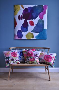Love the textiles by Bluebellgray, a Scottish textile design company that does such happy, vibrant colors!