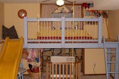 Indoor Play Loft with 8 foot slide! - HOME SWEET HOME