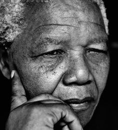 From Museum of Fine Arts, Boston, Herb Ritts, Nelson Mandela, Johannesburg Gelatin silver print Nelson Mandela, Beautiful Men, Beautiful People, Herb Ritts, Celebrity Portraits, Photos Of The Week, Museum Of Fine Arts, Black And White Photography, Famous People