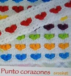 7 Bellísimos Puntos de Crochet Manta Crochet, Chrochet, Kids Rugs, Blanket, Crafts, Decor, Rugs, Gifs, Molde