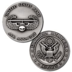 US Army Air Assault Badge Challenge Coin - Meach's Military Memorabilia & 7th Infantry Division, Army Infantry, Army Love, Us Army, Air Assault Badge, Coin Collecting Books, Military Pins, Military Service, Military Weapons