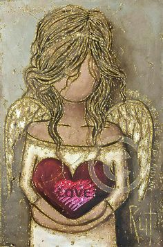 Mother's Day In Heaven, Angel Drawing, I Believe In Angels, Angel Pictures, Angels Among Us, Angel Art, Angel Decor, Heart Art, Art Journal Inspiration