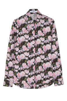 Givenchy Floral-print cotton-poplin shirt   NET-A-PORTER