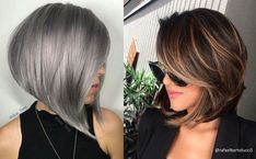 Let us present you with some of the greatest, the most liked and commented bob haircuts of all time! Our lovely fans at facebook.com/haircuts, have actually selected all these hair ideas for you, by sending us messages, sharing and commenting on our posts over the last few months. Bob haircuts are currently in high demand, mostly because it is an easy-to-maintain hairstyle and provides many different options. Stacked Bob Hairstyles, Choppy Bob Hairstyles, Thin Hair Haircuts, Long Bob Haircuts, Girl Haircuts, Straight Hairstyles, Thin Hair Layers, Bobs For Thin Hair, Hair Bobs