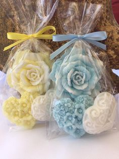 Rose and Heart Soap Favors Set of 10 Bridal Shower Favors