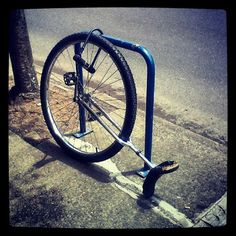 there's always that one unicycle on the bike rack