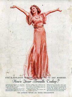 —Listerine ad, 1934 (via Vintage Ad Browser)