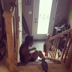 Mama don't go running!! #bird #birdlover #ilovemybird #conure #conures #conuresofinstagram #conuresofig #cockatoo #cockatiel #whiteface #cockatiels #cockatielsofinstagram #cockatielsofig #parrot #parrotlover #goodbird #funnybird #africangrey #africangreyofinstagram #parrotgram #redfactor #agirlandherbirds #tattoo #lifeisgood #funny #ilovemylife by surfdj4329 http://www.australiaunwrapped.com/