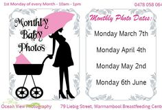 Dates for the monthly photos!  #monthlybabyphoto #oceanviewphotography #babyphotos #babies #photographer #oceanview #onceamonth #brestfeedingcentre #booktoday #monthbymonth #watchmegrow #datestolockin #warrnambool #destinationwarrnambool #april #mybaby #mybabiesmilestones by ovphoto33