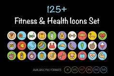 Looking for a great inspiring collection to use in fitness and health related designs? Here is a great collection of Fitness and Health Icons that you can