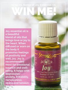 There are ten different essential oils in Joy.      Bergamot,     Ylang Ylang      Geranium      Rosewood      Lemon      Jasmine      Roman Chamomile      Rose Otto      Mandarin      Palmarosa