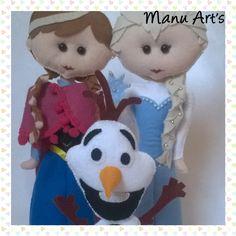 Frozen Anna Elsa e Olaf. Moldes Manu Art's
