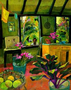 By artist Kate Spencer - Old St. Collages, Art Painting Gallery, Caribbean Art, Black Artwork, Afro Art, Art Studies, Tropical, Aesthetic Art, Urban Art