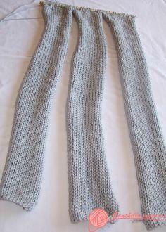 Cuello trenzado gris (2) en punto