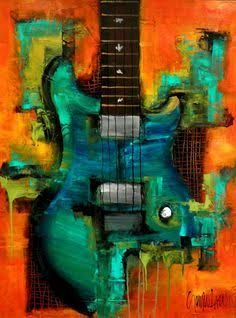 Image result for contemporary paintings with a guitar