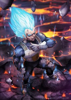Vegeta Super Saiyan god by magion02.deviantart.com on @DeviantArt