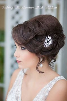 Wedding Hairstyles ~ 1920's vintage updo & neutral make-up