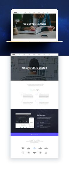 Cesis | Free Sample PSD Template on Behance