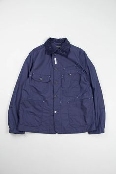Engineered Garments Navy Nyco Reversed Sateen Coverall Jacket
