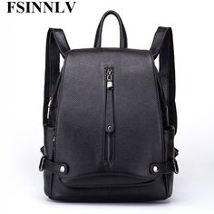 07fa783cca FSINNLV High Quality Women Backpack Genuine Leather Women Travel Bag Large  Capacity Female Business Bag School Backpack DC177  Affiliate