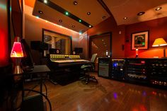 In addition to the two main recording rooms, there are 4 isolation booths and 4 sound-locks. Description from studiotrilogy.com. I searched for this on bing.com/images