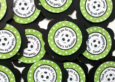 Soccer Theme Favor Tags  Soccer Birthday by getthepartystarted, $7.00