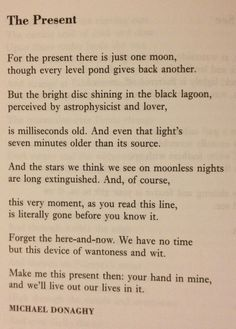 Michael Donaghy - The Present